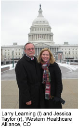 Jessica Taylor and Larry Learning, Western Healthcare Alliance, CO